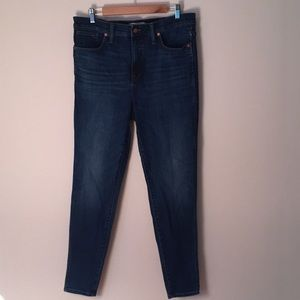 "Madewell 10"" high rise skinny jeans"